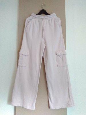 Zara hübsche Hose mit Taschen aus Baumwolle in hellrosa, Sport-Styl, Größe 38, neu