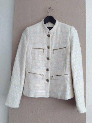 Zara hübsche Tweedjacke aus 71% Baumwolle, Grösse S