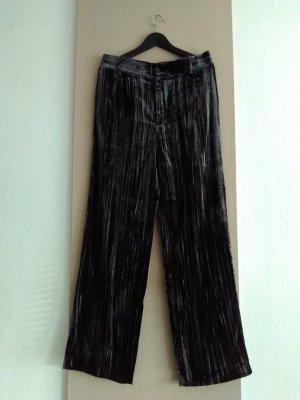 Zara hübsche weitgeschnittene Hose in dunkelgrau, Samtoptik, Grösse L, neu