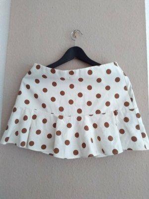 Zara Falda pantalón beige claro-marrón Viscosa