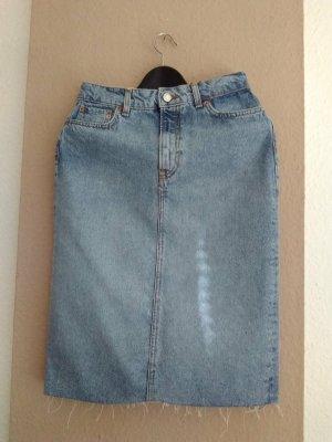 Zara hübscher Jeans-Midirock aus 100% Bamwolle, Grösse S, neu