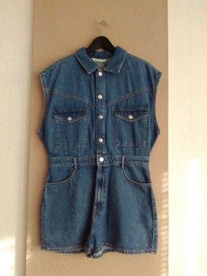 Zara hübscher Jeans-Overall in blau aus 100% Baumwolle, Grösse L, neu