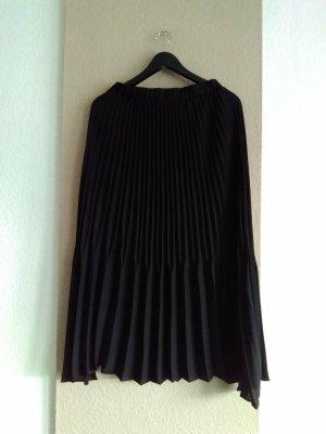 Zara hübscher Plissee-Midirock in schwarz, Größe L, neu