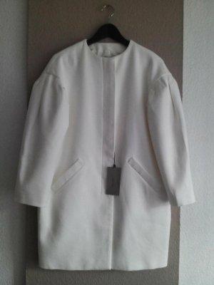 Zara hübscher Übergangsmantel in gebrochenem Weiß aus 100% Baumwolle, Größe M, neu