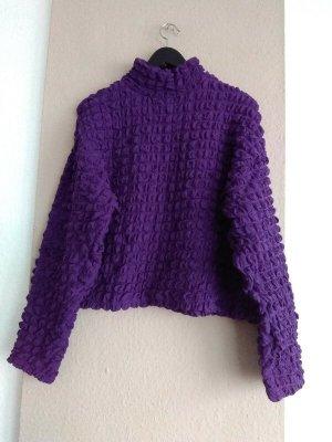 Zara hübsches drapiertes Sweatshirt in dunkellila, Größe M, neu