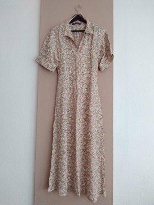 Zara hübsches geblümtes Hemdblusenkleid aus 100% Viskose, Grösse S, neu