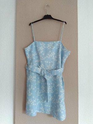 Zara hübsches geblümtes Mini-Trägerkleid aus Leinen und Viskose, Grösse L, neu