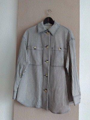 Zara hübsches gestreiftes Überhemd aus 100% Baumwolle, Grösse S oversize, neu