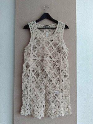 Zara hübsches Häkelkleid aus 100% Baumwolle, Größe M, neu