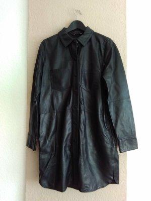 Zara Robe en cuir noir cuir