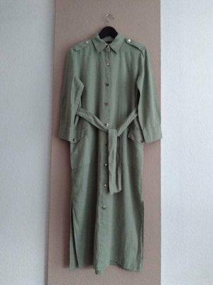 Zara hübsches Hemdblusenkleid aus Leinen und Baumwolle, Grösse S oversize, neu