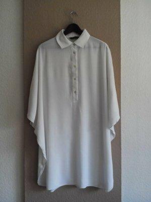 Zara hübsches Hemdblusenkleid in wollweiß mit weiten Ärmeln, Größe S oversize