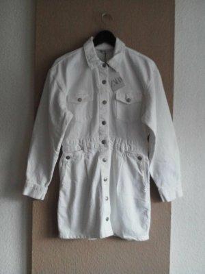 Zara hübsches Jeans-Hemdblusenkleid in weiss, Grösse M, neu