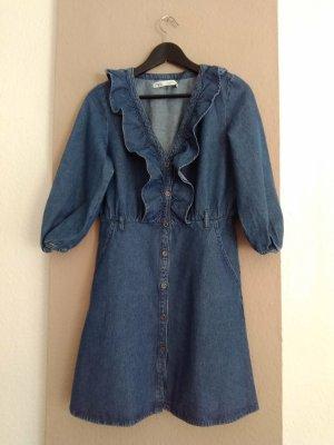 Zara hübsches Jeans-Minikleid in dunkelblau, Grösse S, neu