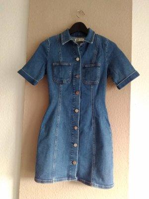 Zara hübsches Jeans-Minikleid in hellblau, Grösse XS
