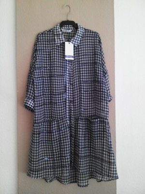 Zara hübsches kariertes Hemdblusenkleid mit Pailletten, Größe S oversize, neu