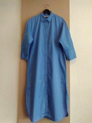 Zara hübsches Langes Hemdblusenkleid in blau, Größe L