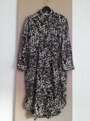 Zara hübsches Midi-Hemdblusenkleid aus Leinen und Viskose, Grösse L, neu