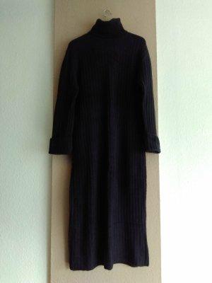 Zara hübsches Midi Strickkleid in dunkelgrau mit Rollkragen, Grösse L, neu