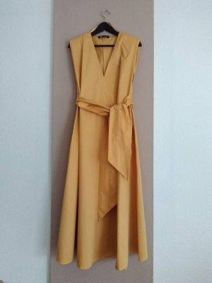Zara hübsches Midikleid in Mandarine aus 100% Baumwolle, Grösse M, neu