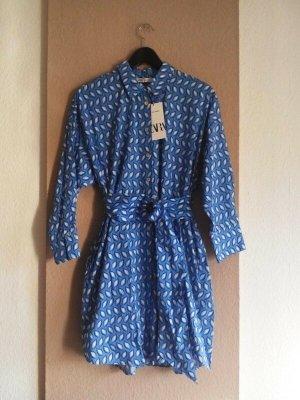 Zara hübsches Mini-Hemdblusenkleid aus 100% Baumwolle, Grösse S oversize, neu