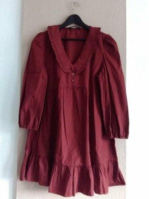 Zara hübsches Minikleid in burgunderrot aus 100% Baumwolle, Grösse L, neu