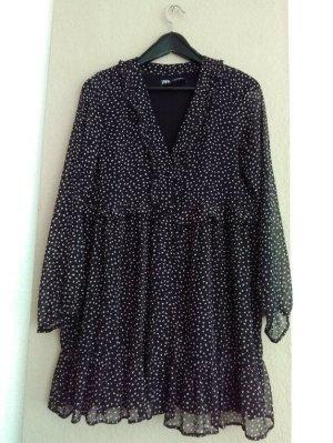 Zara hübsches Minikleid in schwarz/weiss gepunktet, Grösse XL, neu