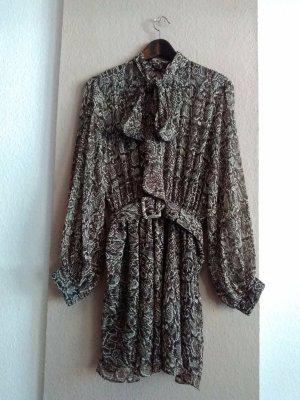 Zara hübsches Minikleid mit Gürtel, Schlangeprint, Grösse XL, neu