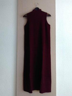 Zara hübsches Strick-Midikleid in Burgunderrot, Grösse M, neu