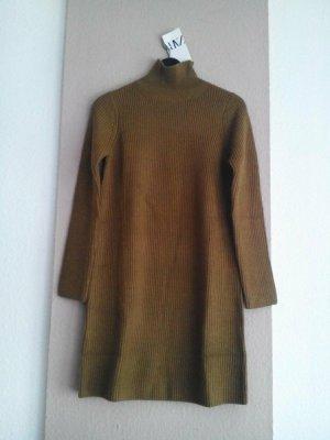 Zara hübsches Strickkleid/Long Pullover in olivengrün, Grösse L, neu