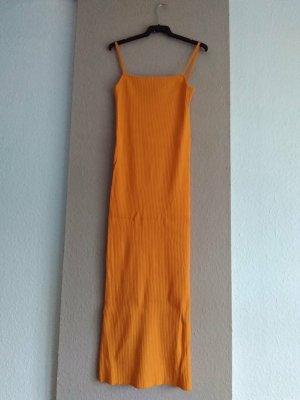 Zara hübsches Träger-Midikleid, Strickkleid in orange, Größe S, neu