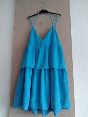 Zara hübsches Träger-Minikleid in Türkis, Größe L, neu