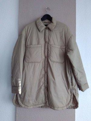 Zara Long Jacket oatmeal-beige polyester