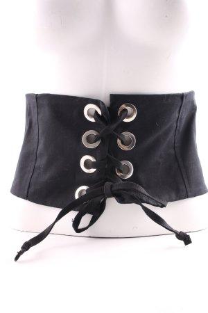 Zara Cinturón de cadera negro elegante
