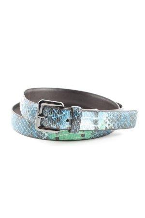 Zara Hüftgürtel blau-grün Animalmuster Casual-Look