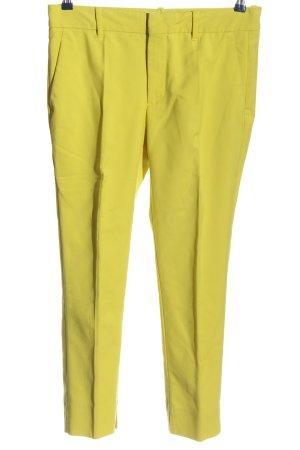 Zara Pantalon taille basse jaune primevère style décontracté