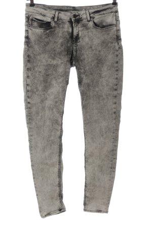 Zara Pantalone a vita bassa grigio chiaro stile casual