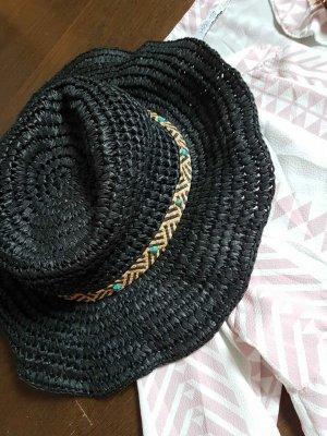 Zara Accesoires Cappello di paglia nero