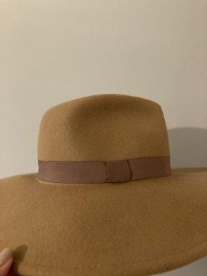 Zara Wollen hoed beige