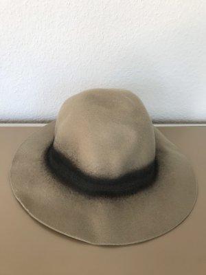 ZARA Hut aus Wolle Wollhut Beige Braun - nur einmal getragen 100% neuwertig!