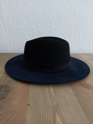 Zara Woolen Hat dark blue-black wool