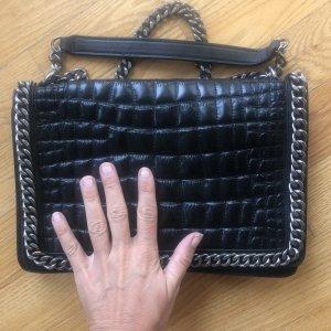 Zara IT Bag croco Design schwarz Tasche
