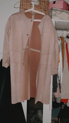 Zara Giacca lunga rosa pallido