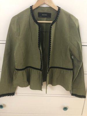 Zara Military Jacket black-khaki