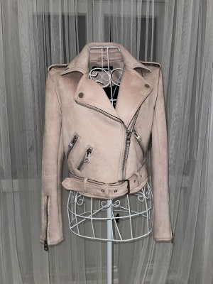 Zara Basic Jack van imitatieleder zilver-rosé