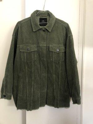 Chaqueta estilo camisa verde oliva-verde oscuro