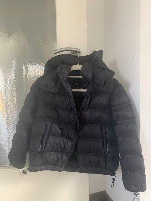 Zara Imperméable noir-bleu foncé
