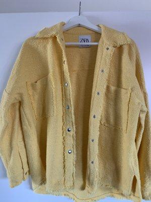 Zara Kurtka oversize żółty-bladożółty