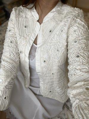 Zara Blouse Jacket white-natural white