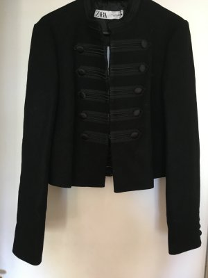 Zara Pea Jacket black wool